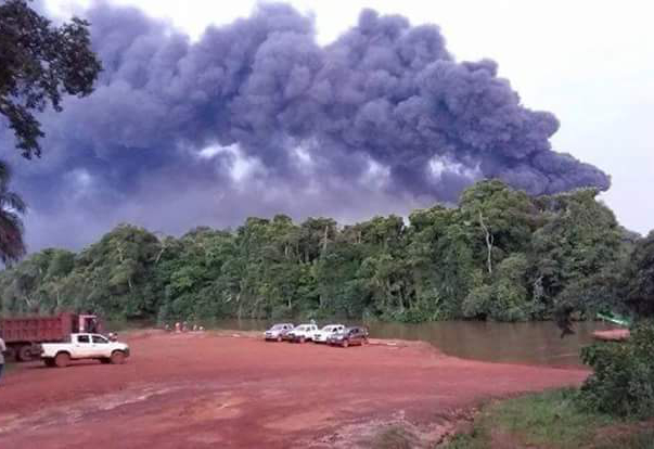 Le site pétrolier d'Obangué soufflé par un incendie