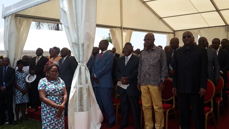 Les leaders de l'opposition étaient également présents à cette déclaration @ Gabonactu.com