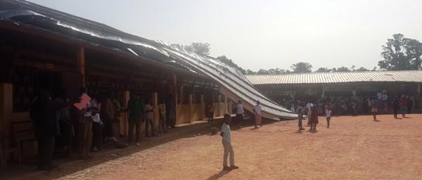Une vue de l'école sinistrée @ Gabonactu.com