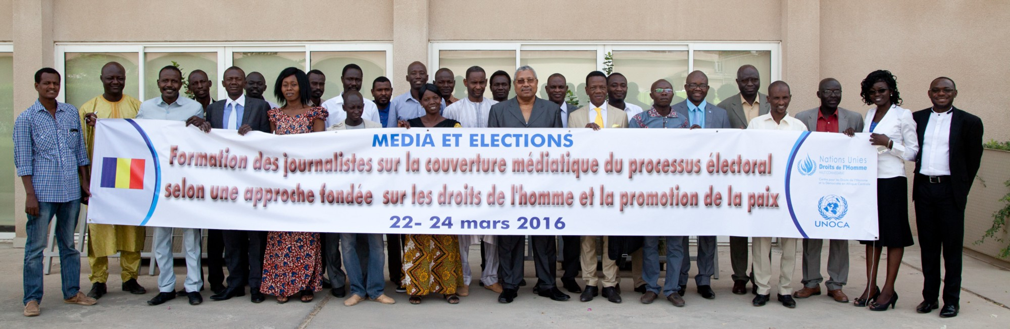 l'ONU sensibilise les médias sur leur rôle dans la promotion d'un processus électoral apaisé au Tchad