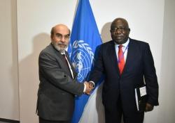 Mathieu Mboumba Nziengui et le DG de la FAO @ FAO