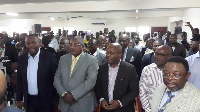Plusieurs militants de l'opposition ont répondu présents à la cérémonie@ Gabonactu.com
