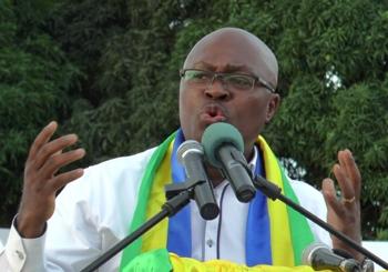 Jean De Dieu Moukagni Iwangou a fait un discours très enflammé à Gabonactu.com