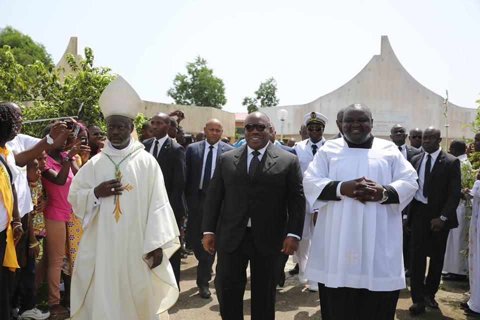 Le nouvel évêque de Port-Gentil a pris ses fonctions en présence du Raïs Ali Bongo