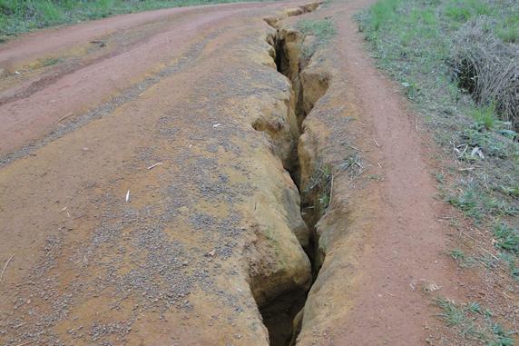 La tronçon Rébé-Lepoye et Malinga est complétement délabrée