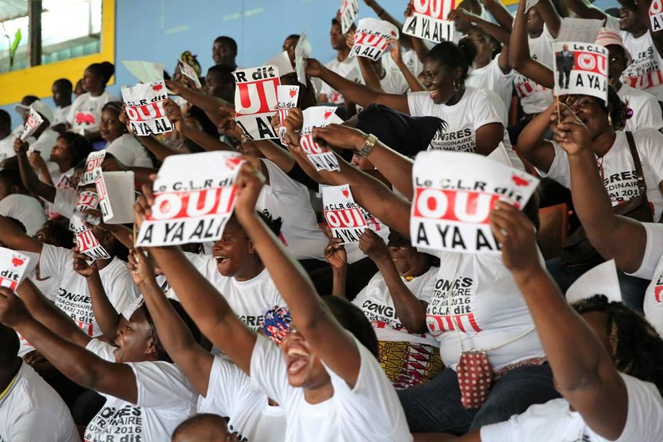 Les militants du CLR exprimant leur dévotion à Ali Bongo Ondimba @ Facebook Ali Bongo