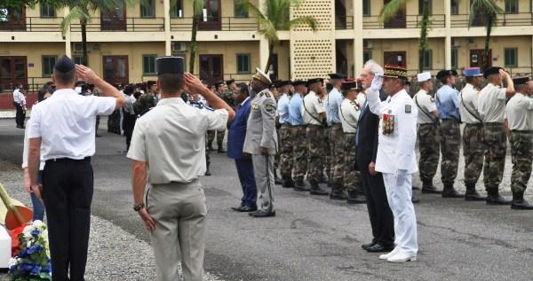 Les soldats français du Gabon commémorent l'armistice