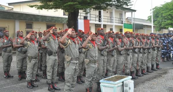 Les soldats gabonais ont également participé à la prise d'armes @ EFG