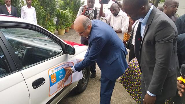 Mairie de Libreville : 3500 taxis  numérotés aux couleurs de Gabon Télécom