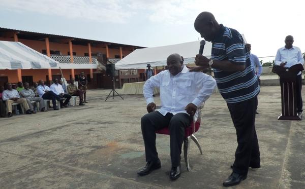 Vincent de Paul Gondjout coordonnateur de la campagne de Guy Nzouba Ndama dans l'Estuaire