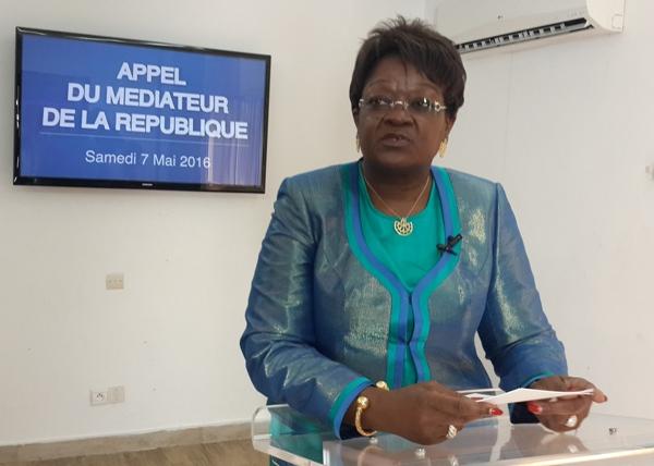Laure Olga Gondjout exprimant ses inquiétudes durant sa déclaration @ Gabonactu.com