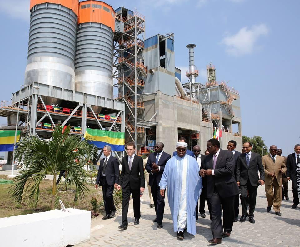 Inauguration d'une nouvelle cimenterie à Libreville