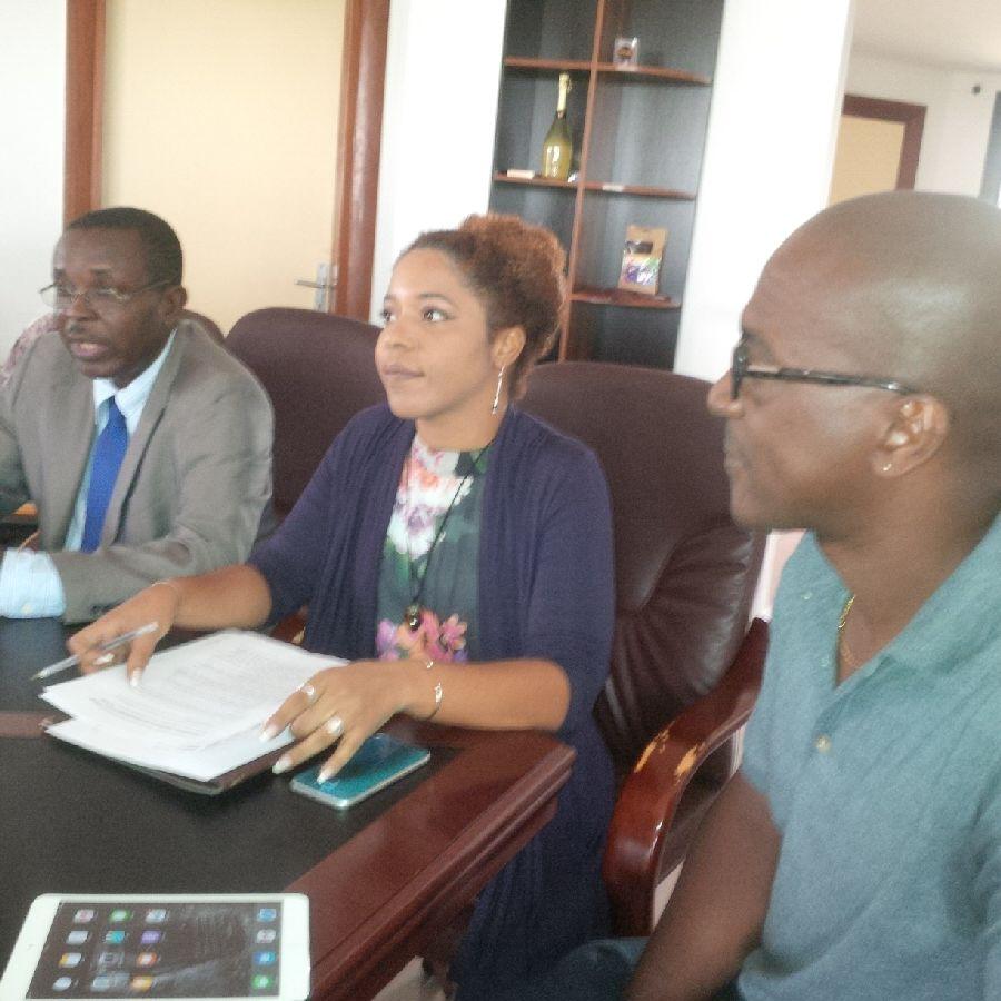 Les promoteurs du concept CSP durant la conférence de presse à Libreville @ F. C M