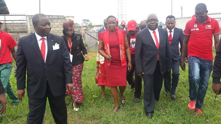 La veuve Mamboundou a pris une part active dans l'organisation du 1er congrès du parti de son défunt mari @ Gabonactu.com