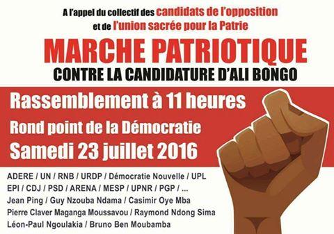 L'opposition annonce une marche pacifique contre Ali Bongo Ondimba  samedi vers Rio