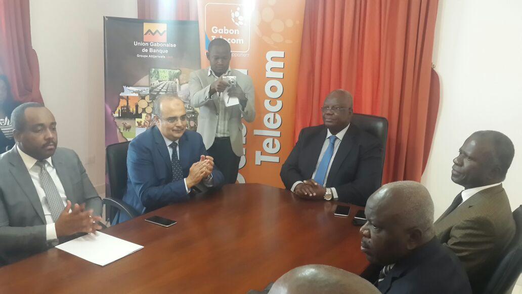 Le partenariat a été scellé en présence des collaborateurs de deux parties  @ Gabonactu.com