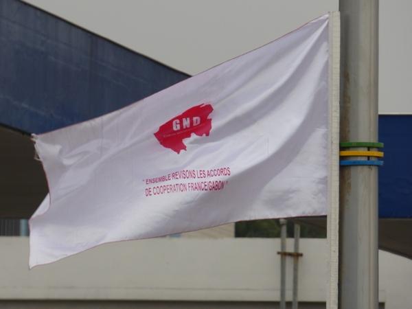 Les drapeaux de Roland Désiré Aba'a Minko @ Gabonactu.com