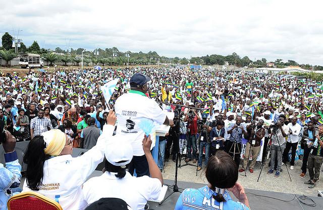 Ali Bongo a effectué une tournée électorale à Libreville