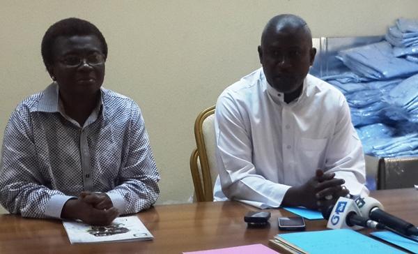 Mme Soumaho et M. Bouanga Ngoma lors de conférence de presse le 12 septembre @ Gabonactu.com