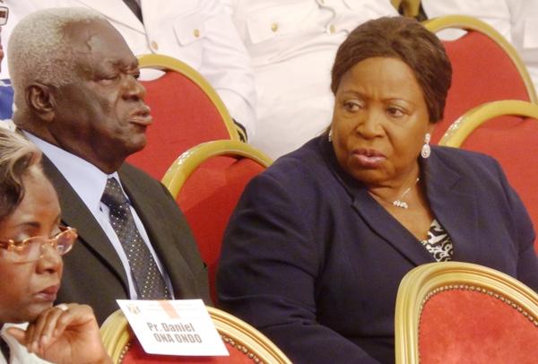 Jean Boniface Assélé et Patience Dabany respectivement oncle et mère d'Ali Bongo Ondimba @ Gabonactu.com