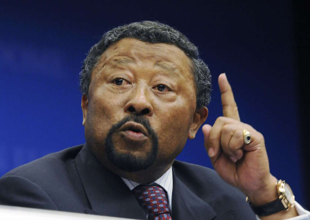 African Union Chairman Jean Ping gestures while talking to the media during a press conference at the European Union Council building following the Somalia Donors Conference held in Brussels, Thursday April 23 , 2009. (AP Photo/Thierry Charlier.)/Belgium_EU_Somalia_Donor_Conference_TC122/0904231740