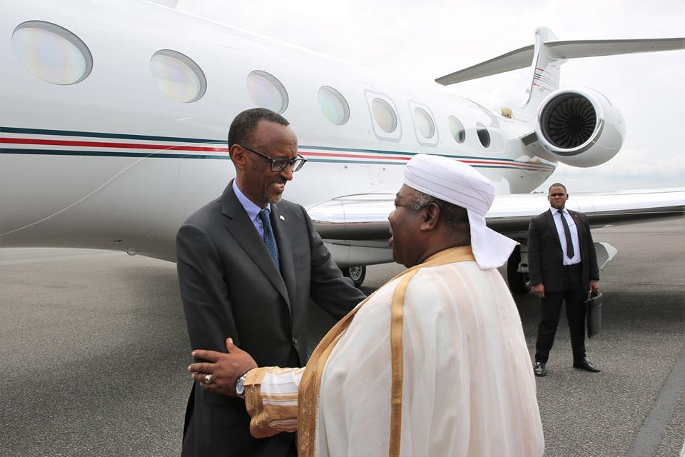 Paul Kagamé et Ali Bongo @ Facebook Ali Bongo
