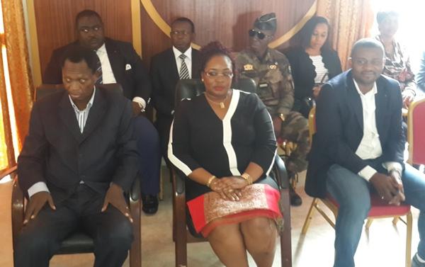 """De gauche vers la droite René Ndemezo""""o Obiang et Estelle Ondo, ministre du gouvernement d'Ali Bongo @ Gabonactu.com"""