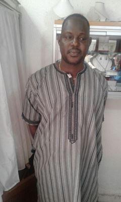 Ibrahima Touré Sylla dans les locaux de la détention @ DR