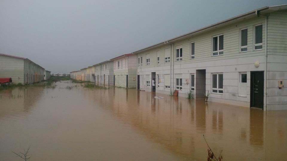 """Même les maisons """"digitales"""" étudiées par le cabinet américain Bechtel sont dans l'eau"""