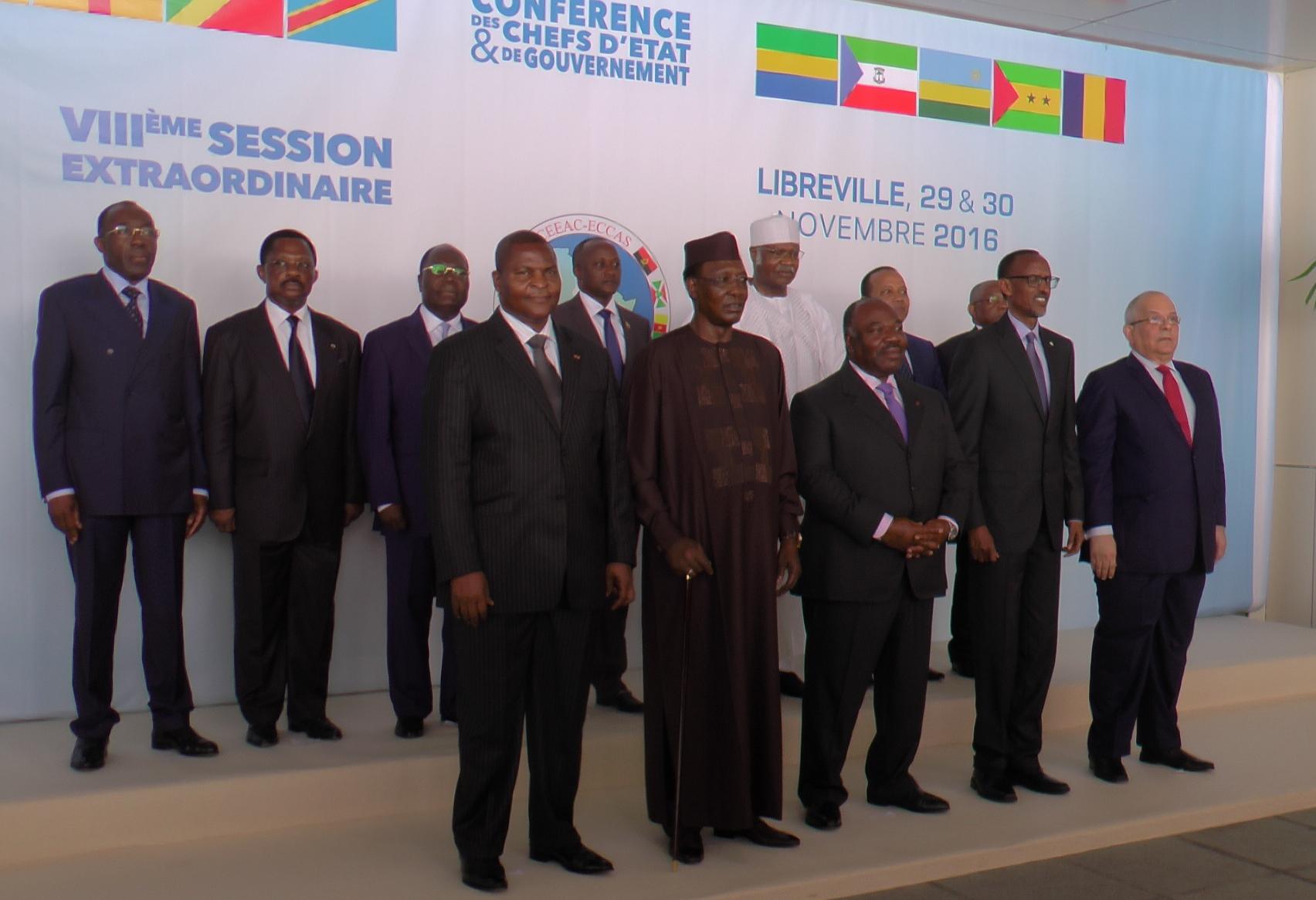 4 chefs d'Etat y compris Ali Bongo participent au sommet de la CEEAC à Libreville