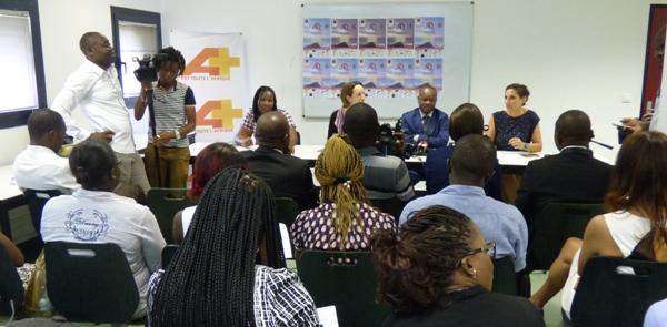 Une vue générale de la conférence de presse @ Gabonactu.com