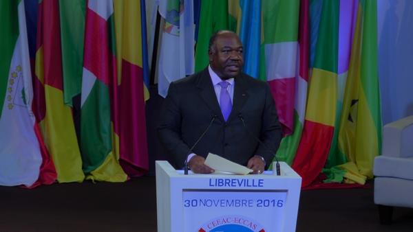 Ali Bongo Ondimba durant son discours d'ouverture @ Gabonactu.com