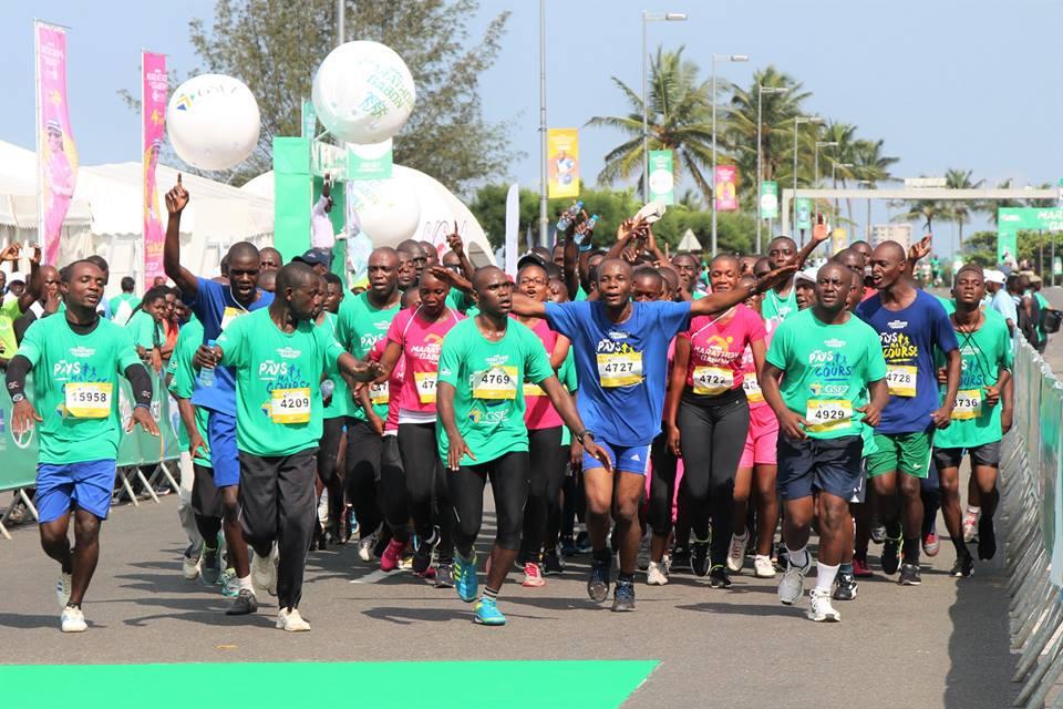 Une vue des marathoniens à Facebook A Bongo Ondimba