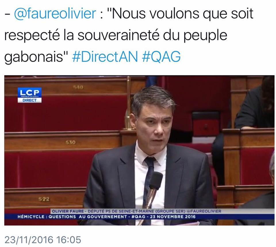 Ping-pong très chaud à l'Assemblée nationale française sur la situation politique au Gabon