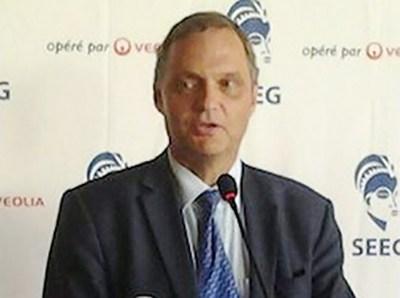 Le Directeur général de la SEEG, Antoine Boo, l'auteur de la déclaration de guerre @ DR