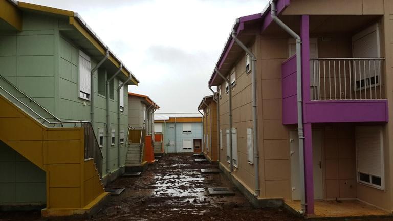 Une vue des logements sociaux squattés à Angondjé @ Image d'archives Gabonactu.com