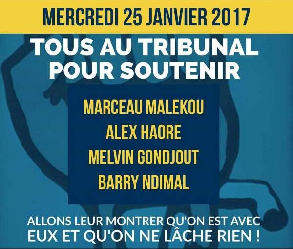 Les 4 jeunes militants de l'opposition interpellés le 18 janvier seront au tribunal ce mercredi