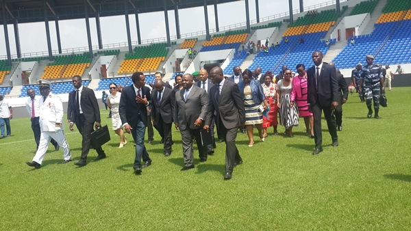 Le stade d'Oyem officiellement inauguré par Ali Bongo