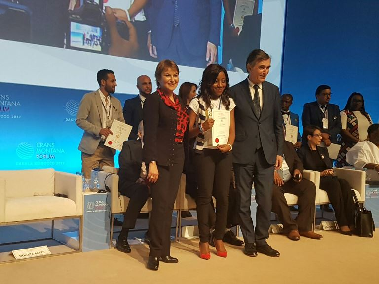 Leadership international : Dina Koussou primée New leader du futur par la fondation Crans Montana au Maroc