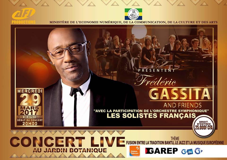Le Jazzman Frédéric Gassita donne un de ses très rares concerts le 29 mars à Libreville