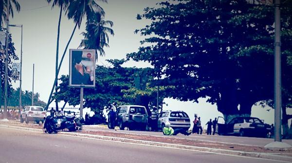 Tropicale 2017 : un gendarme chute lourdement avec sa moto à Libreville