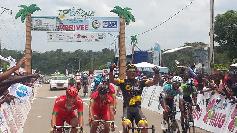 5ème étape de la Tropicale Amissa Bongo 2017 : Victoire du français Yohann Gene qui  arrache le maillot jaune