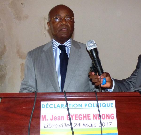 Urgent : Jean Eyeghe Ndong annonce la création de son mouvement politique