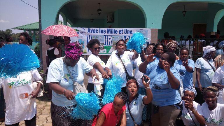 Malgré l'annulation de la 4ème étape de la Tropicale  Amissa Bongo 2017, le mouvement l'Appel des Mille et Une'' était mobilisé à Fougamou