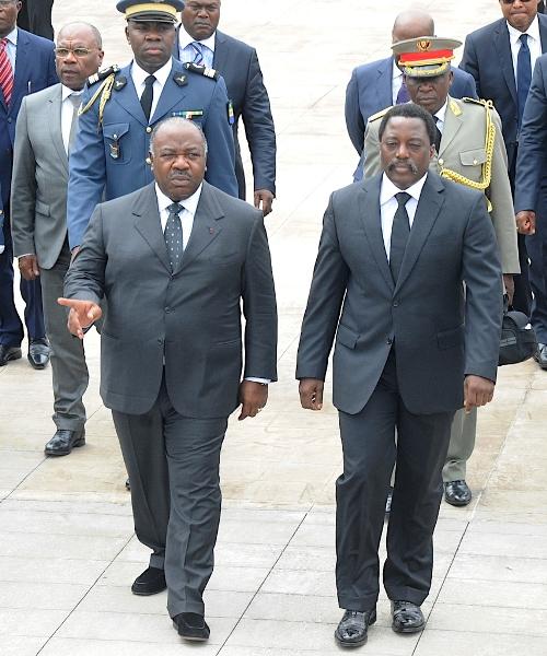 Visite posthume de Joseph Kabila à  Omar Bongo à Franceville
