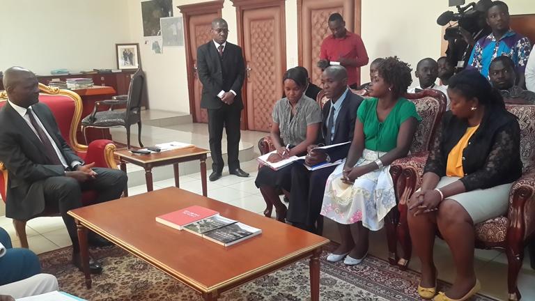 Les jeunes cadres de Malinga, Mabanda et Guietsou en soutien à Bruno Ben Moubamba