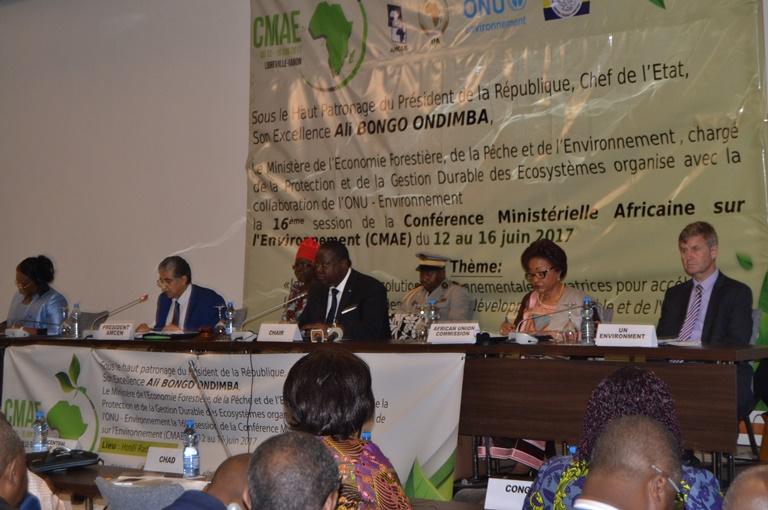 Ouverture officielle de la 16ème  Conférence  ministérielle africaine sur l'environnement à  Libreville