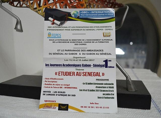 Journées académiques Gabon-Sénégal du 13 au 15 juillet 2017 à Libreville