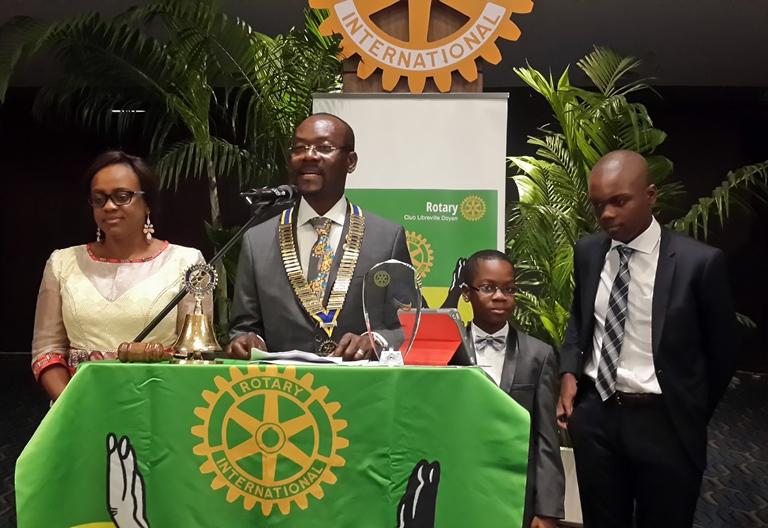 Jacques Locoh, nouveau président  du Rotary Club Libreville Doyen