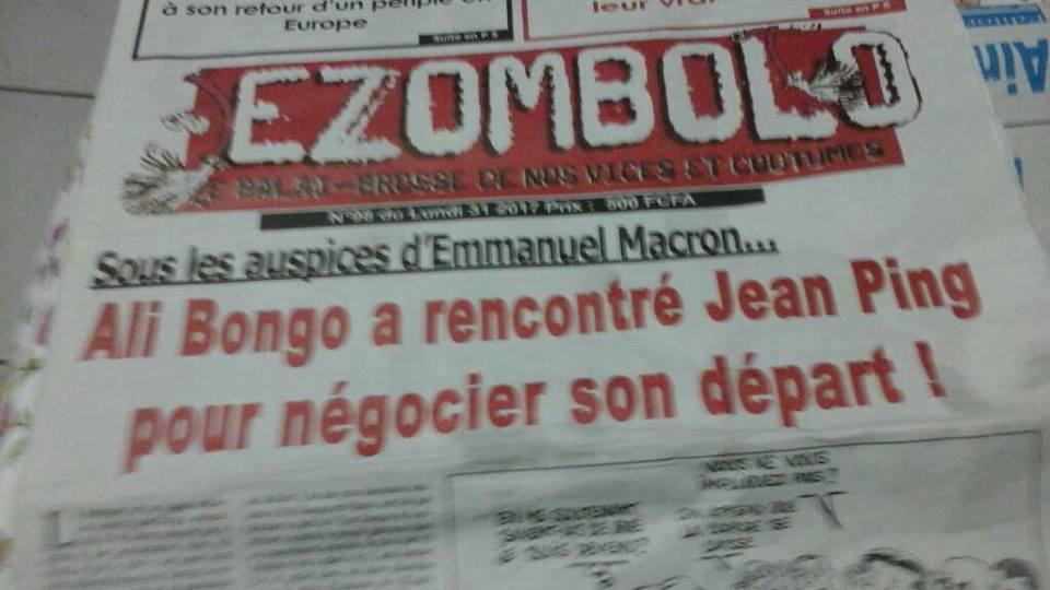 Le journal Ezombolo en vedette à Libreville grâce à un titre choc